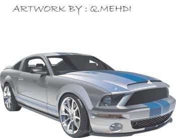 vector de auto Mustang sport