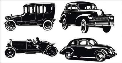 vector gratis de viejo coche siluetas