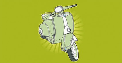 vector de scooter