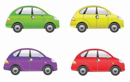 набор из четырех автомобилей вектора