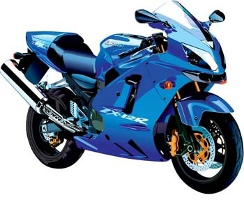 moto deportiva de Suzuki zx