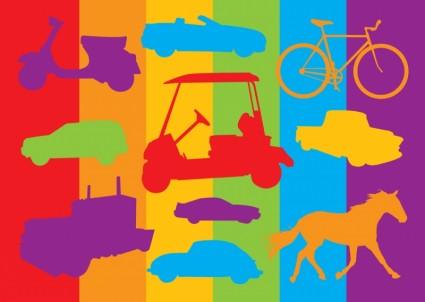 graphiques de véhicules de transport