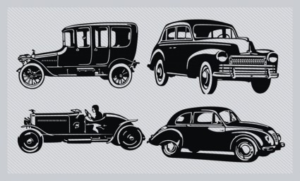 pack silhouette Vintage voiture