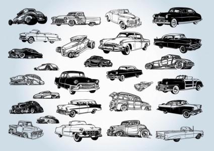 vecteurs de voitures anciennes