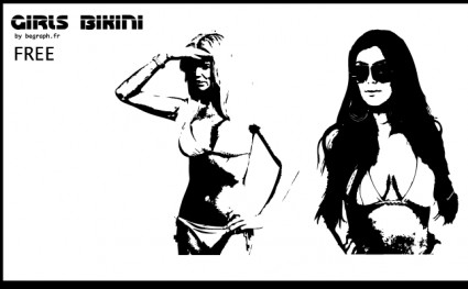 vecteurs de filles bikini