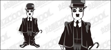 material de vectores de Chaplin
