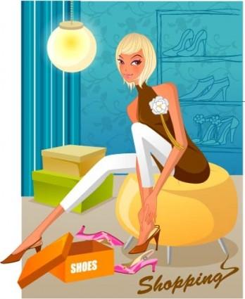 mujeres de moda de compras