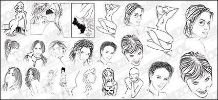 material de desenho de estilo de pessoas