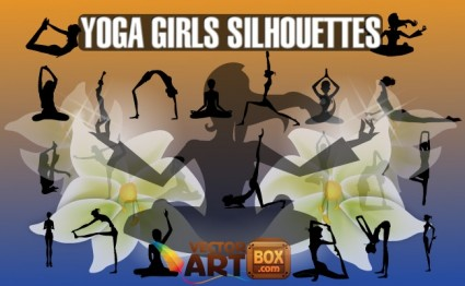 Yoga gadis siluet