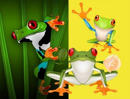 3 ベクトルかわいいカエル
