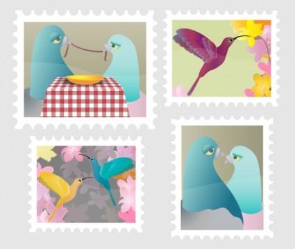 鳥の切手に良いスタート
