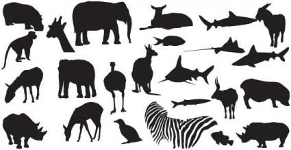 動物のシルエット