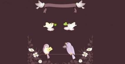 鳥をベクトルします。