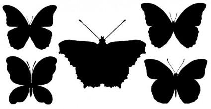 蝶シルエット