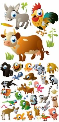 かわいい漫画の動物の画像ベクトル