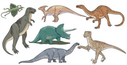vector de los dinosaurios
