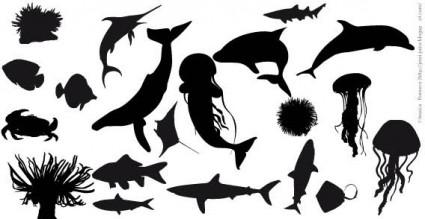 魚のシルエット ベクトル