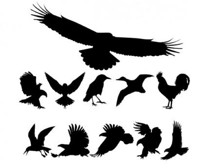鳥のフリーベクター シルエット