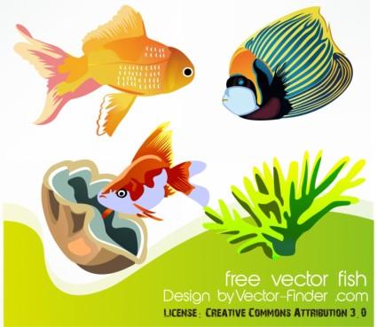 vector gratis de peces