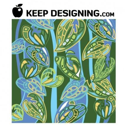 ジャングルの壁紙パターン ベクトル