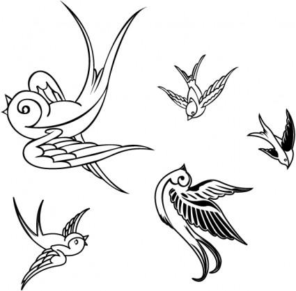 Vector de aves gorriones