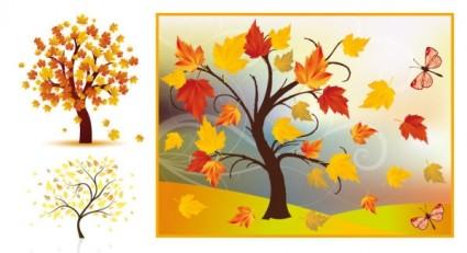vecteur des arbres de l'automne