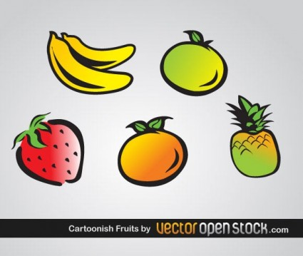 vecteur de fruits caricatural