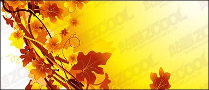 en el otoño de la rota planta material de vectores