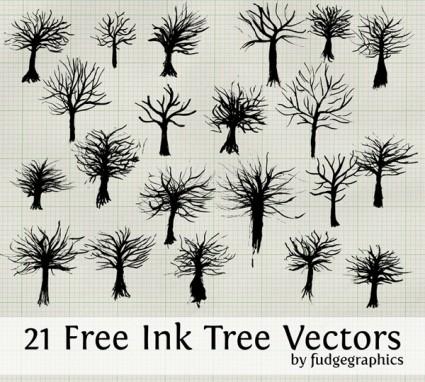 vectores de árbol de tinta