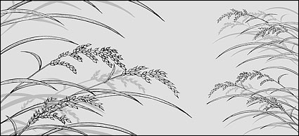 Strichzeichnung von Blumen