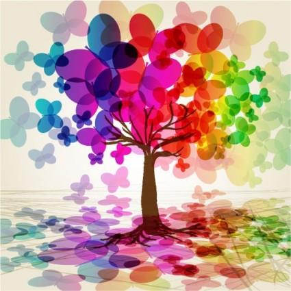 vetor de árvore borboleta Sinfonia