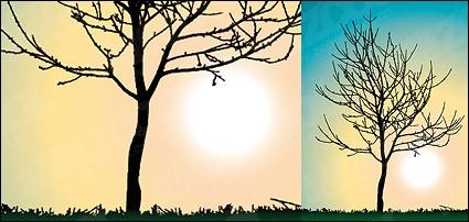 деревья без листьев вектор материал