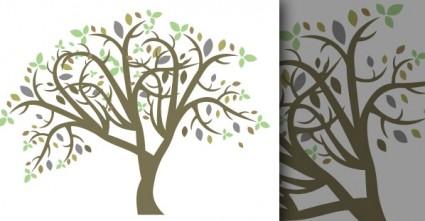 Векторные красочные дерево