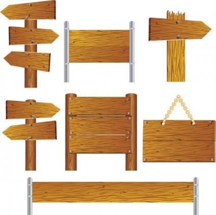 vecteur de panneaux de bois magnifiquement réaliste