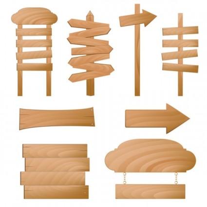 красиво реалистичные древесины знаки вектор