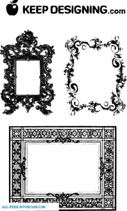 marcos de fantasiosos y bordes ornamentados
