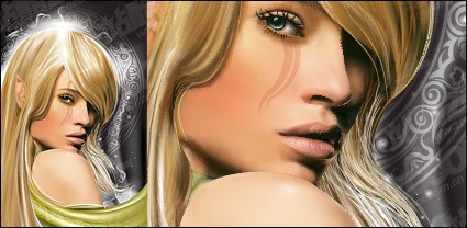 魔法の美しさの女性