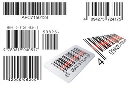 código de barras realista vector