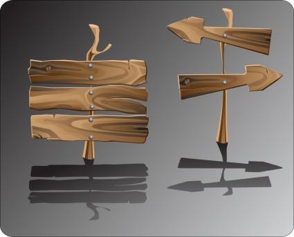 panneau en bois réaliste vector