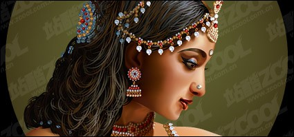 Стандартный Индийская красота женщины