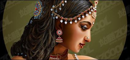mujeres de belleza India estándar