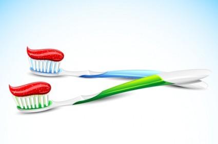 vecteur de la brosse à dents