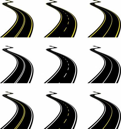 вектор реалистичные шоссе