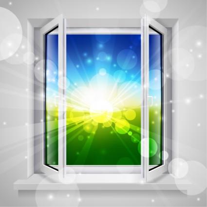 vecteur des portes et fenêtres réalistes