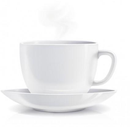 realista vector de café taza