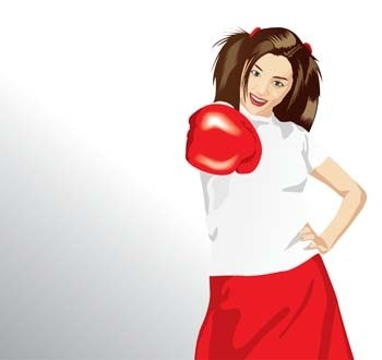 vetor de esporte do boxe