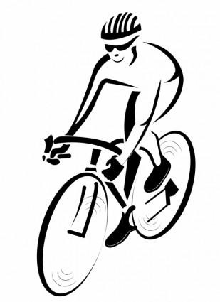 ciclista ciclismo fitness desenhos animados bicicleta homens