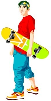 vector skateboarding