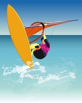 vetor de esporte surf