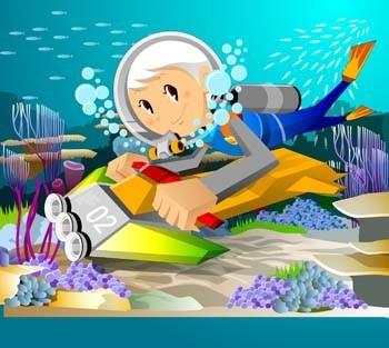 サーフィン スポーツ ベクトル